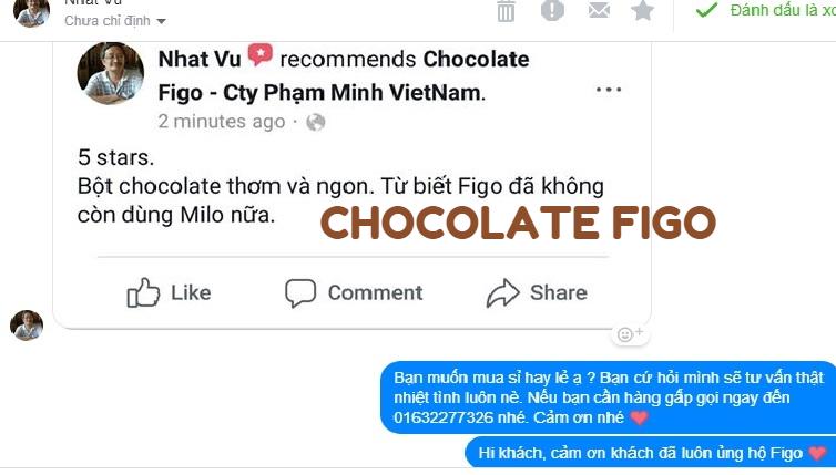 Feedback về Bột Chocolate Figo - Top 1 of Figo Brand