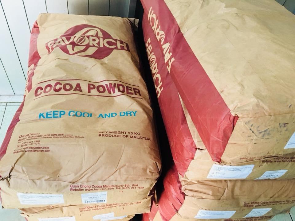 Cung cấp bột cacao nguyên chất Malaysia, Indonesia nhập khẩu theo bao 25kg sỉ số lượng lớn