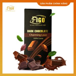 (Bar 100g)Kẹo Socola đen nguyên chất 100g không đường 100% cacao giảm cân - ngăn ngừa bệnh Figo - Socola top 1 Thương hiệu Việt Nam