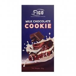 (Bar 50g) Socola sữa nhân bánh Cookie FIGO - đồ ăn vặt văn phòng