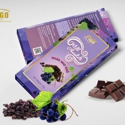 (Bar 50g) Socola sữa nhân Nho Khô dòng Sweet love 50g Figo - đồ ăn vặt siêu ngon việt nam