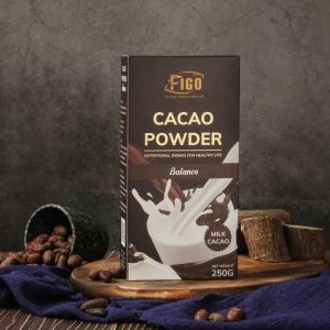 Bột Chocolate 80% cacao, ít đường dòng Balance 250g Figo
