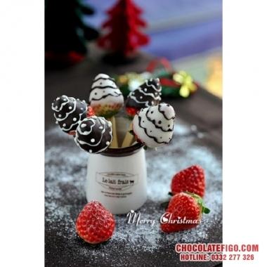 Cách làm dâu tây socola cho Noel 2019