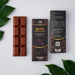 (Bar 20g) Kẹo Sô cô la đen 20g nguyên chất không đường 100% cacao Figo