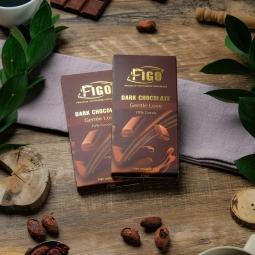 Kẹo Socola đen 70% cacao ngọt vừa dòng Gentle Love 50g Figo - Vietnamese Chocolate