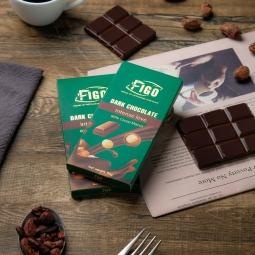 Kẹo Socola đen 80% cacao Hạt Macca giảm cân 100g Figo - Tự hào Socola thương hiệu Việt Nam