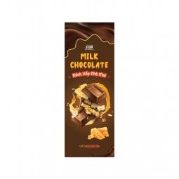 (Bar 20g) Kẹo Socola sữa nhân bánh xốp phô mai Figo ( Siêu phẩm ) - Đồ ăn vặt siêu ngon