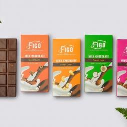 Kẹo Socola sữa nhân Hạt cacao Nibs ngọt vừa dòng Sweet Love 50g Figo