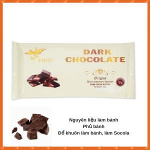 Sô cô la 75% cacao dạng khối làm bánh Figo 200g