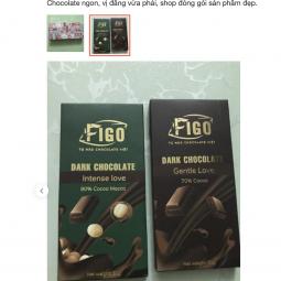 Socola đen 80% cacao Dừa dòng Intense Love 50g Figo